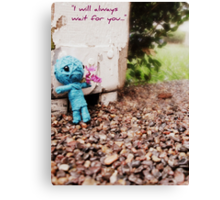 I Will Always Wait For You Canvas Print