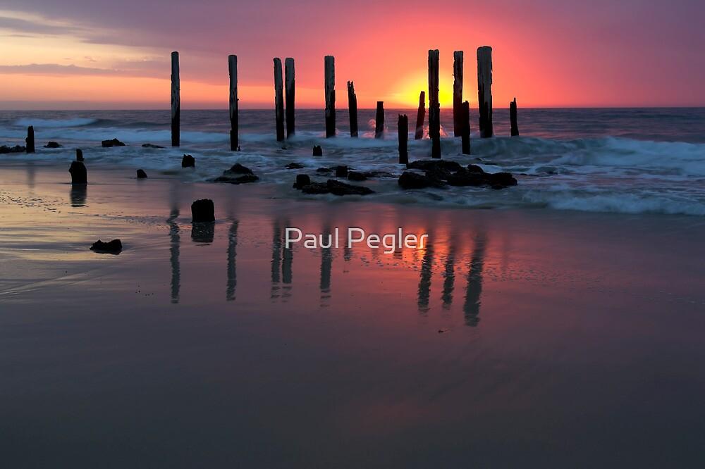 Jetty at Port Willunga, South Australia. by Paul Pegler