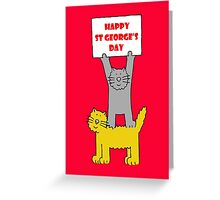 St George's Day Cats. Greeting Card