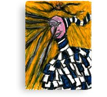 A crying clown Canvas Print