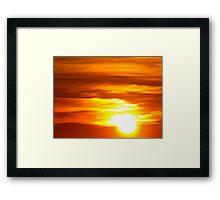 Random acts of brightness Framed Print