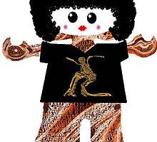 Country Line Dancer Rag Doll by Deborah Lazarus