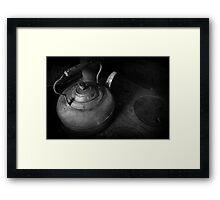 Kettle in Black & White Framed Print