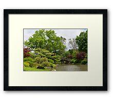 Japanese Inspired Garden Framed Print