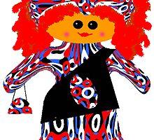 Little Fashion Diva Rag Doll  by Deborah Lazarus