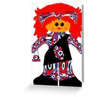 Little Fashion Diva Rag Doll  Greeting Card