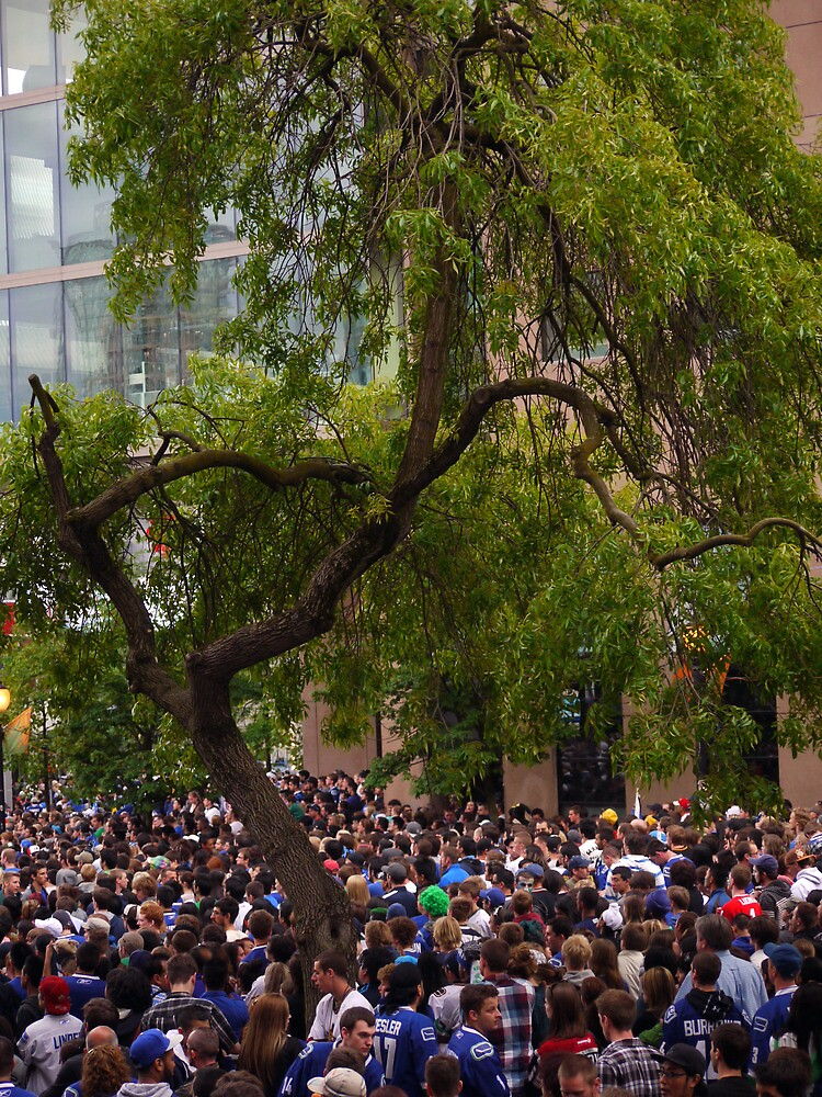 Tree in a Sea of People by Rae Tucker