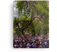 Tree in a Sea of People Metal Print