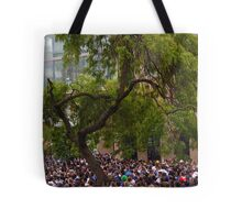 Tree in a Sea of People Tote Bag
