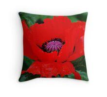 A Poppy Throw Pillow