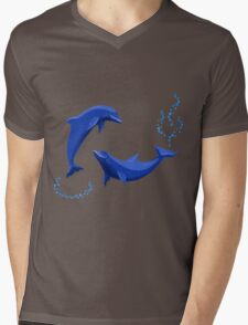 Two dolphins Mens V-Neck T-Shirt