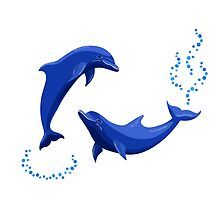 Two dolphins by AllaRi