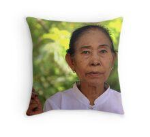 Burmese woman Throw Pillow