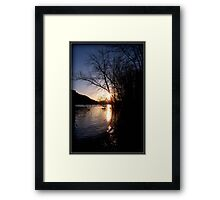 Sundown River Framed Print