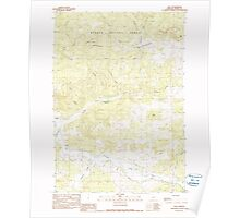 USGS Topo Map Oregon Post 281140 1990 24000 Poster