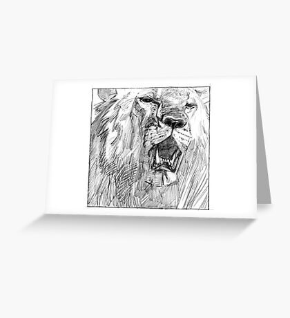 Lion Face Greeting Card