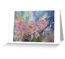 Girls in Pink Dresses. Greeting Card