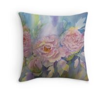 Girls in Pink Dresses. Throw Pillow