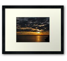 Sunset at Williamstown VIC #3 Framed Print
