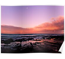 Sunset at Lorne VIC Poster