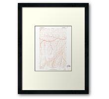USGS Topo Map Oregon Nye 280945 1967 24000 Framed Print