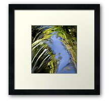 Watery Brush Strokes Framed Print