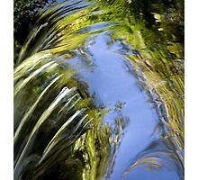 Watery Brush Strokes Photographic Print