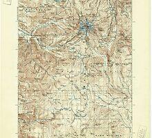 USGS Topo Map Oregon Mount Hood 283228 1927 125000 by wetdryvac
