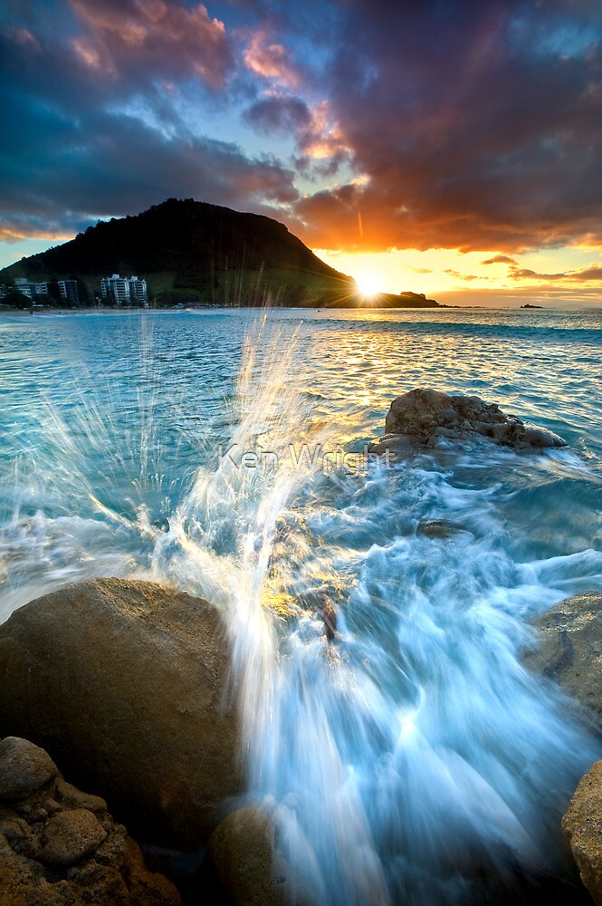 The Mount Sunset Splash by Ken Wright