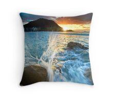 The Mount Sunset Splash Throw Pillow