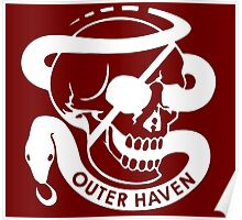 Outer Haven White Poster