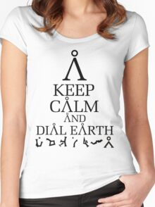 Stargate SG1 - Keep Calm and Dial Earth Women's Fitted Scoop T-Shirt