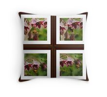 Bee and the Alluim Collage Throw Pillow