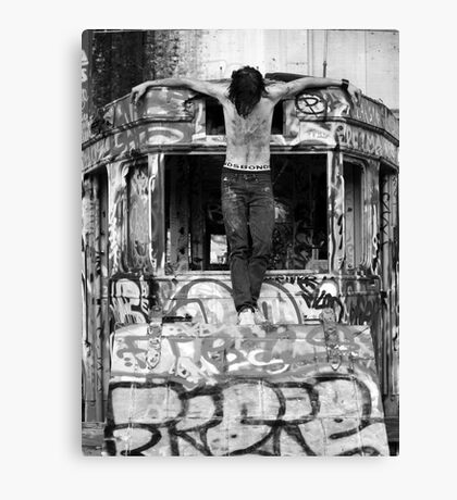 urban crucifixion Canvas Print