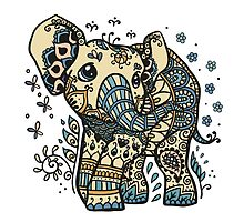 Mandala elephant by MarcoCapra89