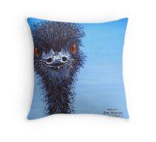 Blue Emu Throw Pillow
