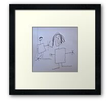 Mummy and Andrew Framed Print
