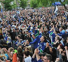 Canucks Victory by Aziz Dhamani