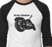 Harley Davidson Fatboy illustration Men's Baseball ¾ T-Shirt