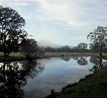 Winter Morning on the Billabong, near Gundagai, Australia. by kaysharp