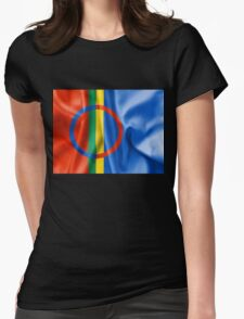 Sami Flag Womens Fitted T-Shirt