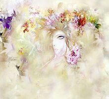 floral angel by Anivad - Davina Nicholas