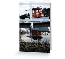 Above and Below The Wharf Greeting Card