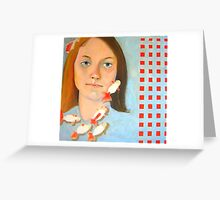 amie and the goldfish Greeting Card