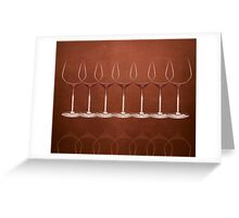 wineglass - graphic Greeting Card