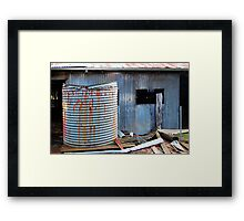 Rusty Water Tank # 1  Framed Print