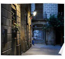 Barcelona Graffiti Poster