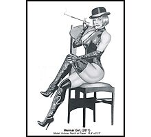 Weimar Girl, A study in pencil Photographic Print