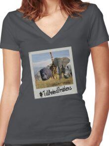 TallAnimalProblems Women's Fitted V-Neck T-Shirt