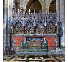 Monument to St Firmin, Amiens Cathedral, Somme, France Photographic Print
